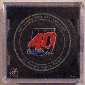 Washington Capitals 40th Anniversary NHL Puck