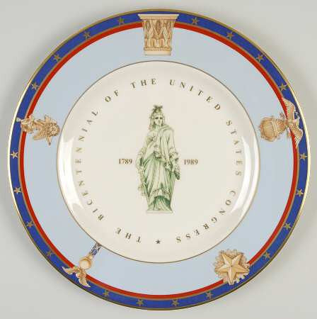 Tiffany & Co. U.S. Congress Bicentennial Plate (Circa 1989)