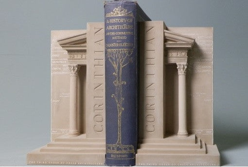 Corinthian Order Bookends in Plaster