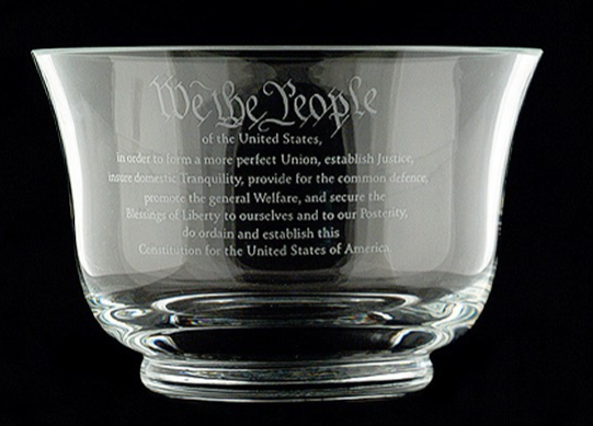 Constitution Crystal Bowl