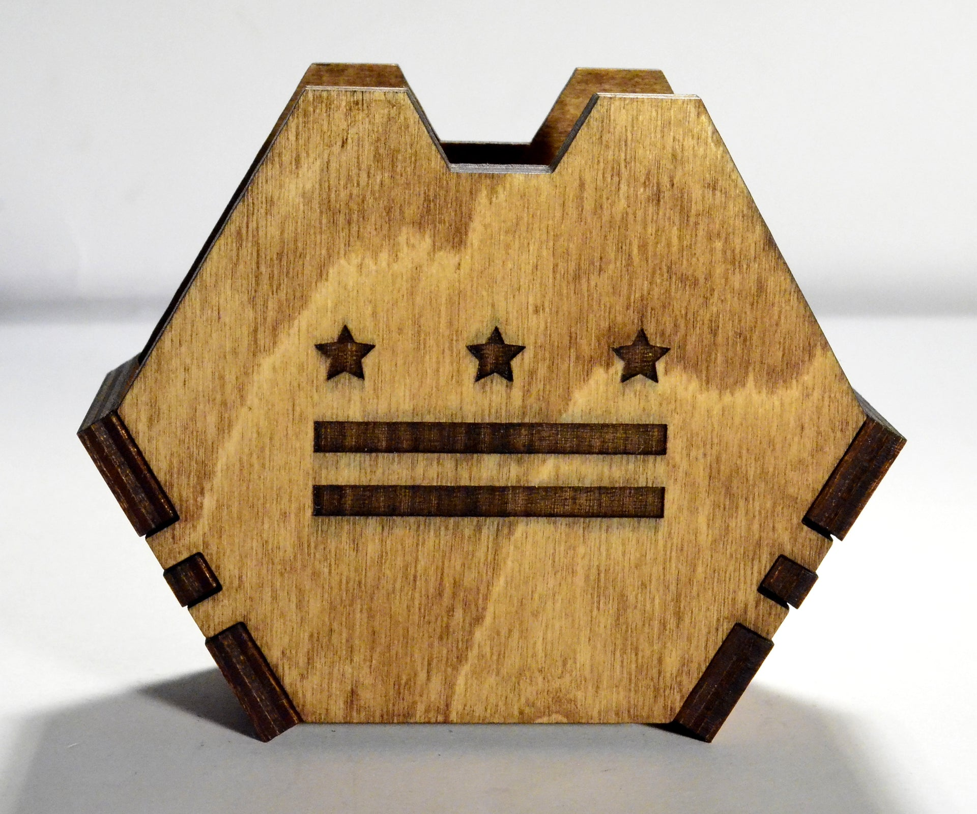 DC Map Laser Cut Wood Coaster Set
