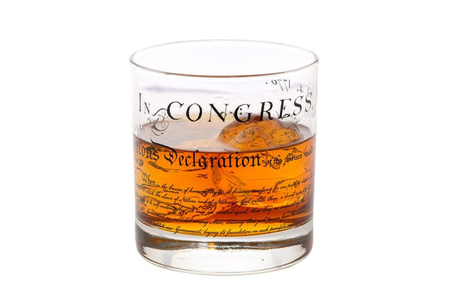 Declaration of Independence Rocks Glass