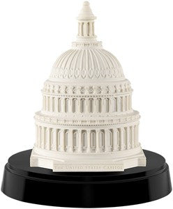Capitol Dome Paperweight in Marble and Wood