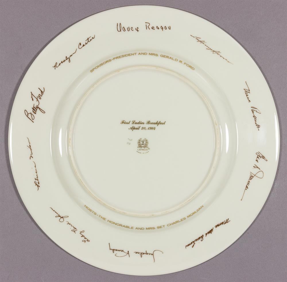 First Ladies White House Breakfast Plate (Circa 1984)