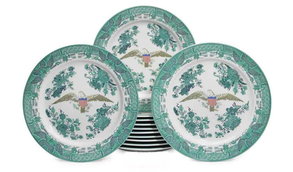 "Ronald Reagan Inauguration ""Candlelight Dinner"" 6-Piece Plate Set (1981)"