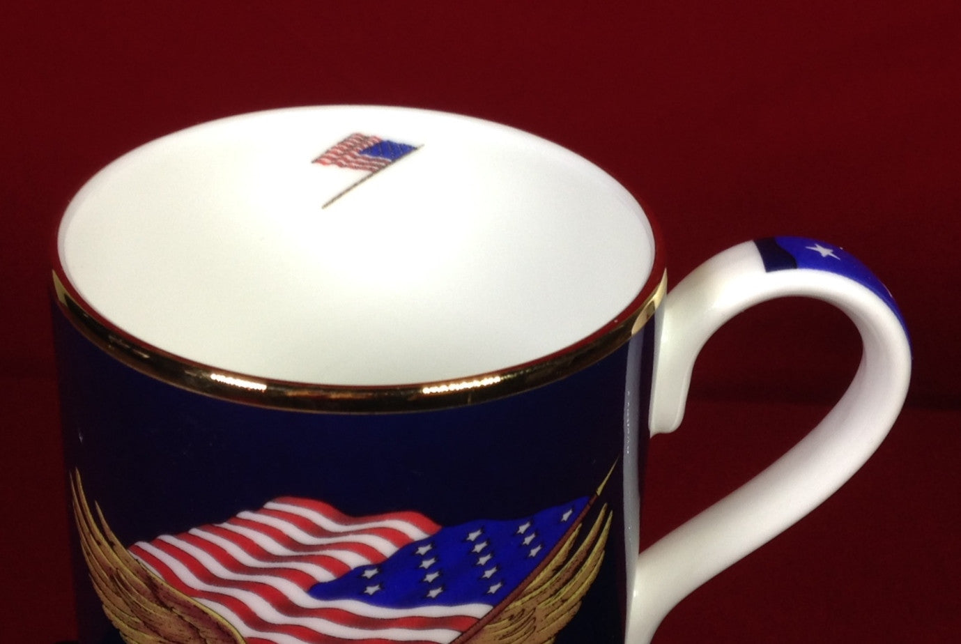 "Halcyon Days ""Star-Spangled"" Fine English Bone China Mug"
