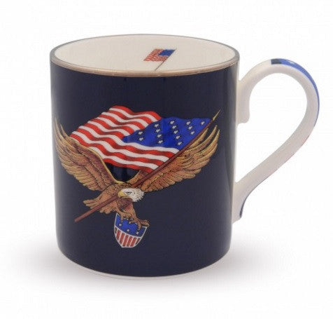 "Halcyon Days ""Star Spangled"" Fine English Bone China Mug"