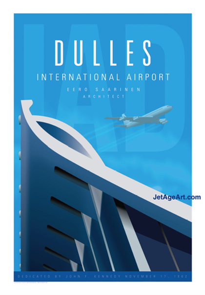 Dulles International Airport Poster