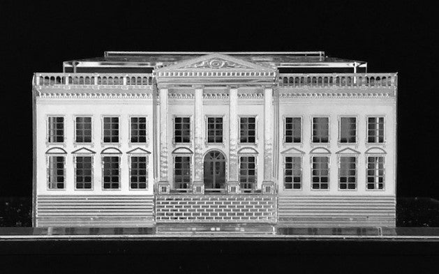 White House Scale-Model in Crystal and Silver
