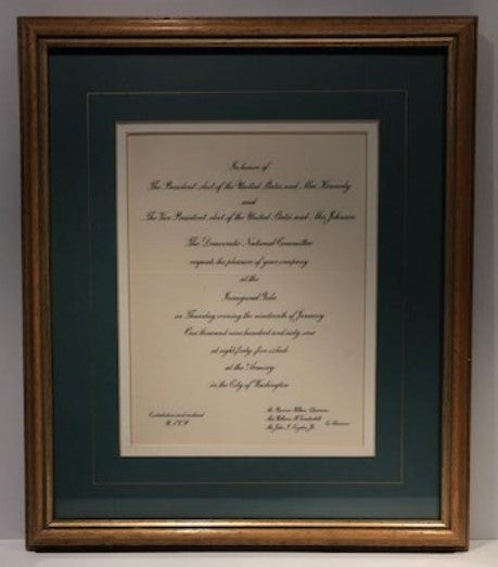 Official John F. Kennedy Inauguration Ceremony and Inaugural Ball Invitations
