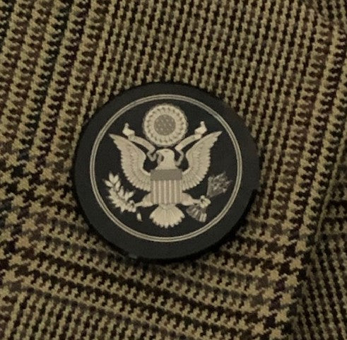 Great Seal Lapel Pin (Obsidian and Silver)