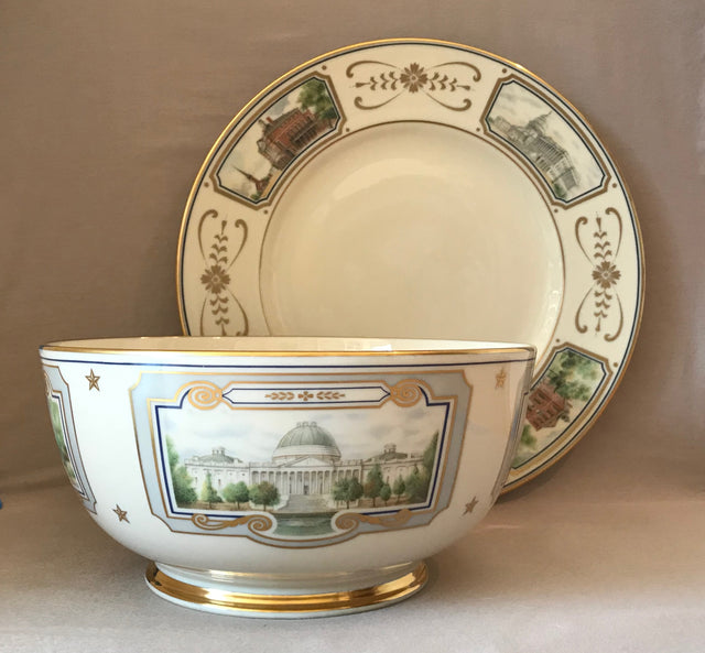 "Senator John Glenn ""Congressional"" Bowl and Plate Set by Lenox (Circa 1993)"