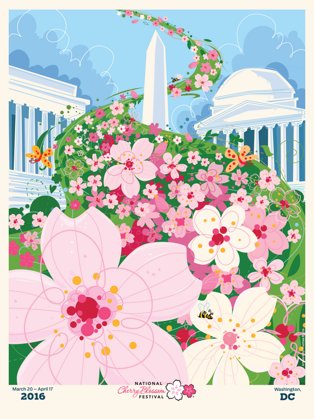 National Cherry Blossom Festival Official Poster (2016)