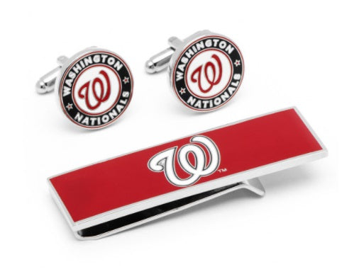 Washington Nationals Cufflink and Money Clip Gift Set