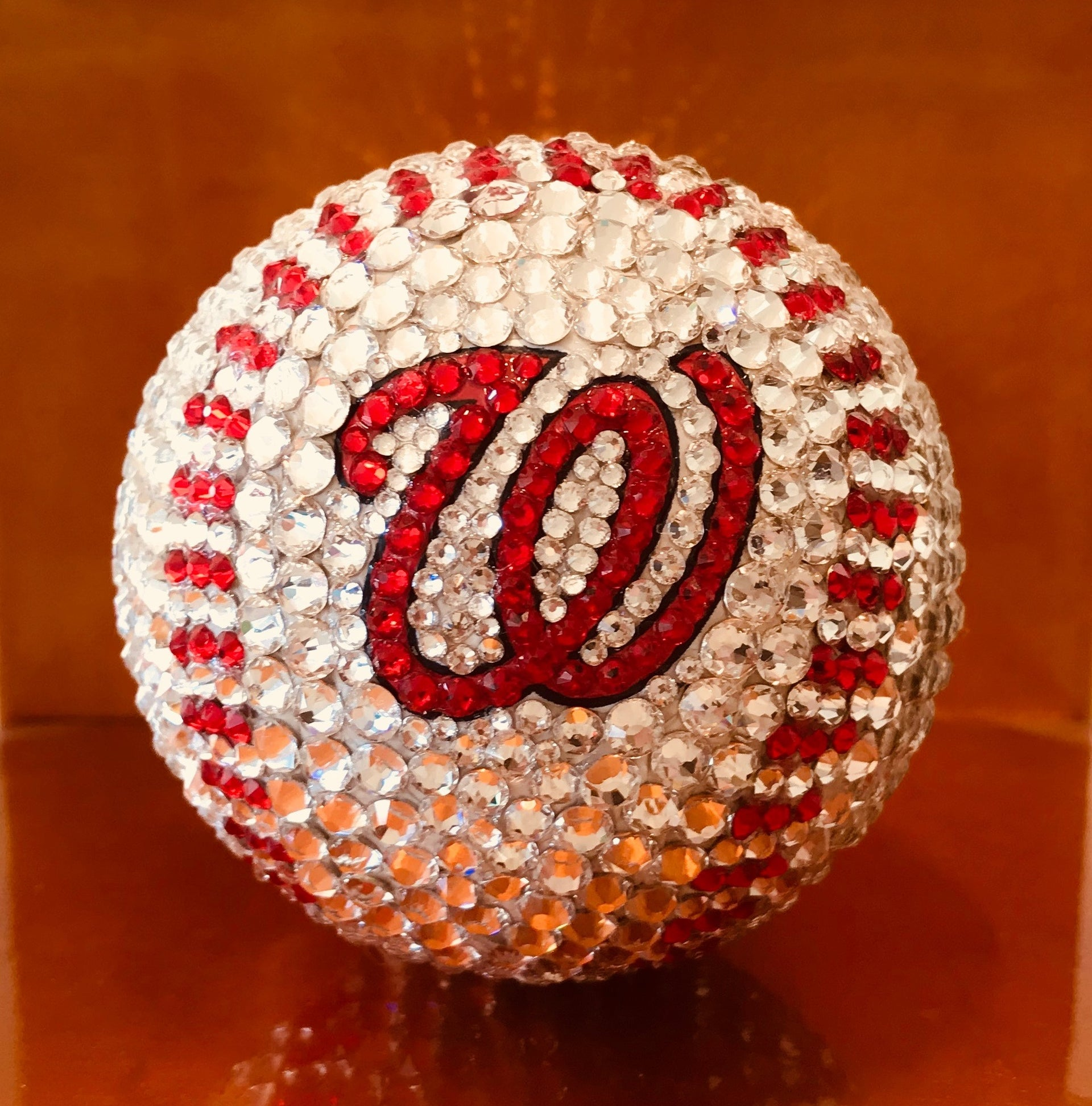Washington Nationals Swarovski Crystal Baseball