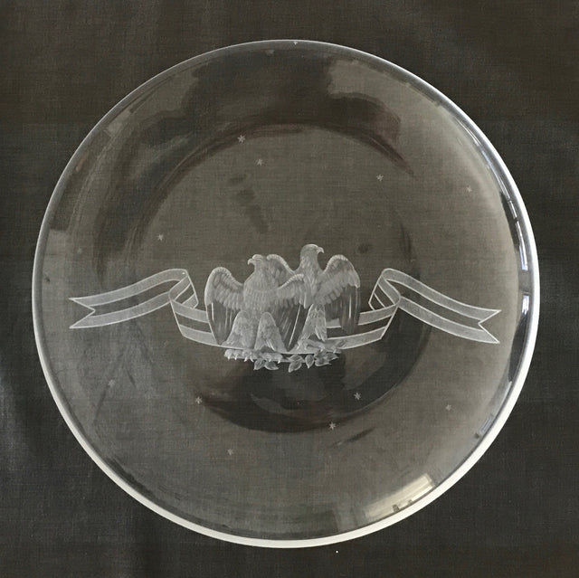Double Eagle Crystal Plate (Circa 1975)