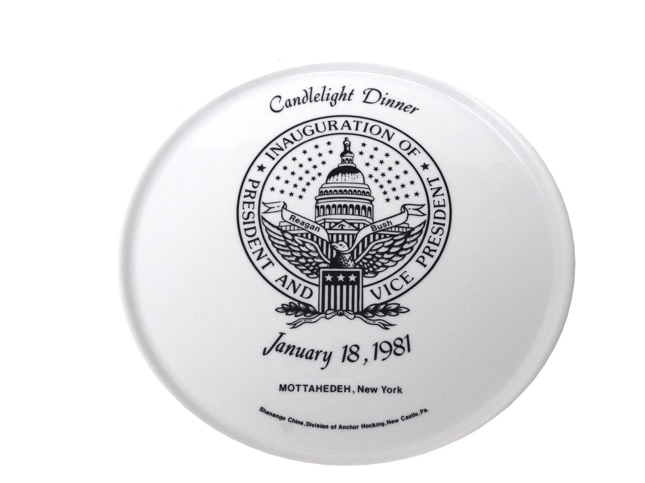 "Ronald Reagan Inauguration ""Candlelight Dinner"" Plate and Bowl (1981)"