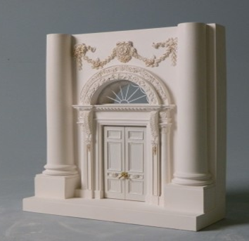 White House Front Doorway Architectural Scale-Model in Plaster