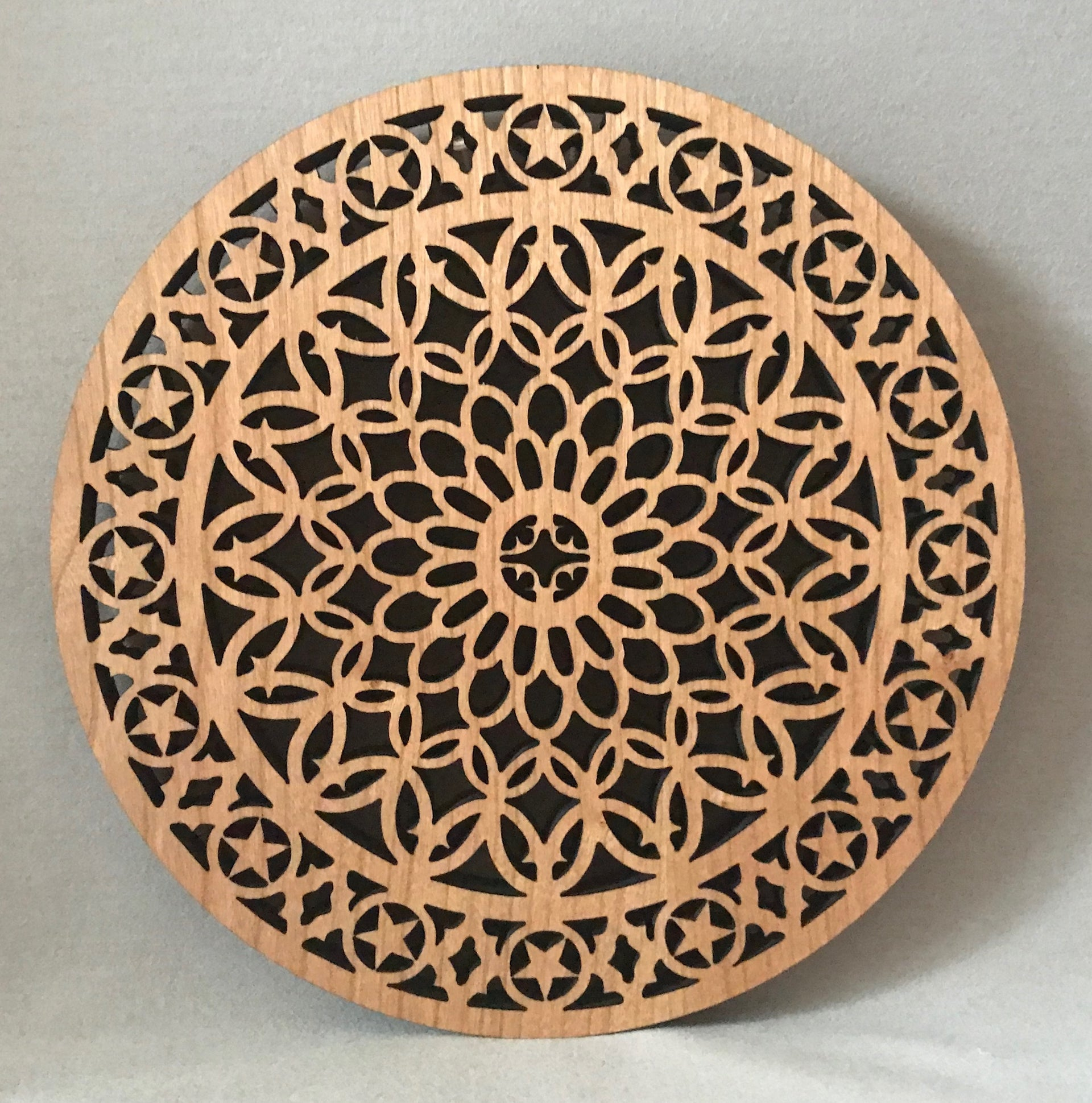 "Walnut ""Senate Grille"" Trivet"