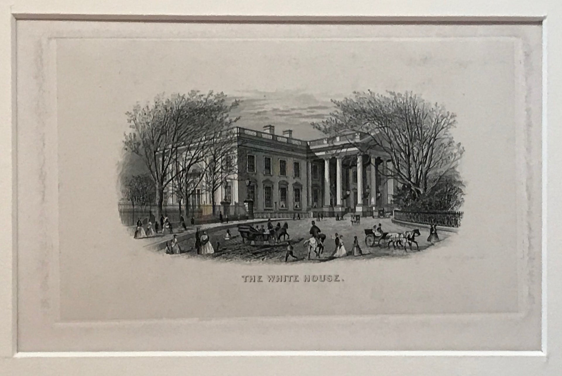 """The White House."" Steel Engraving"
