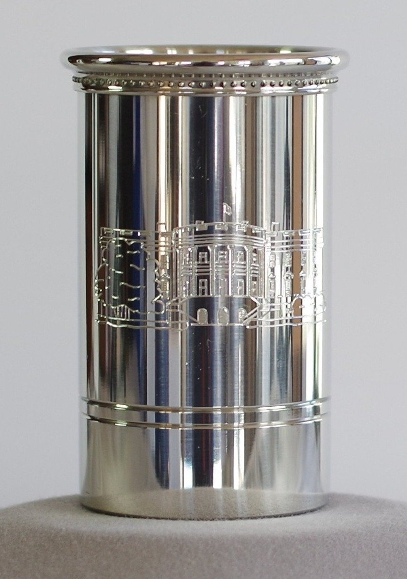 White House Pewter Pencil Cup