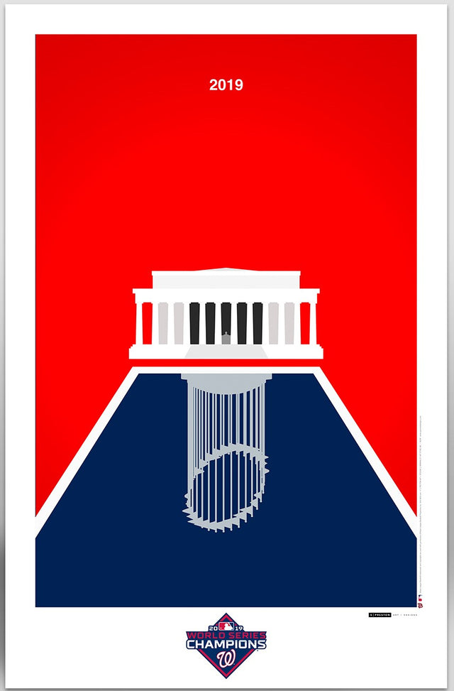 2019 World Series Minimalist Print