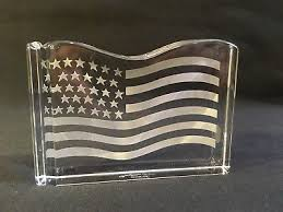 Tiffany & Co. Crystal Stars and Stripes Paperweight