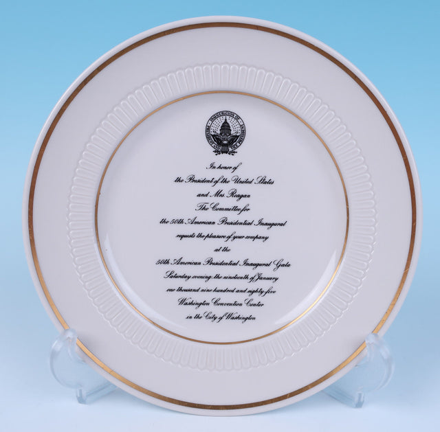 Ronald Reagan 50th American Presidential Inauguration Invitation Plate (circa 1985)