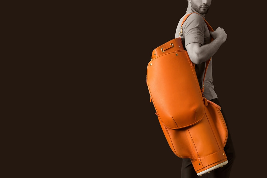 Oline Luxury Leather Golf Bag Made in Italy