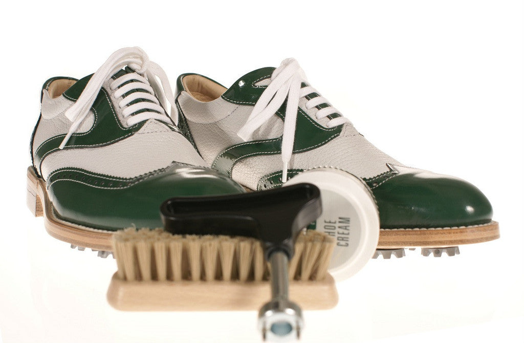 Treccani Milano leather golf shoes for the golf blog