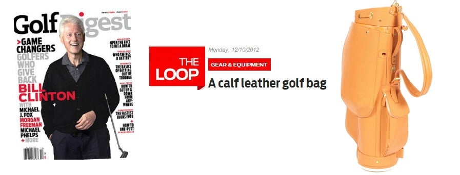 Golf Digest Features Treccani Milano Golf Bags