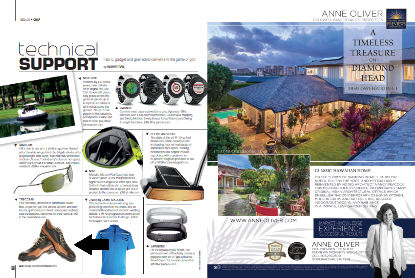 Treccani Milano Custom Golf Shoes Featured on Hiluxury Magazine Hawaii