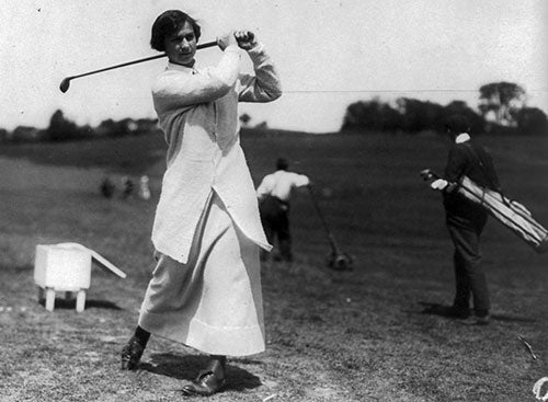 First female Golf champion in 1921