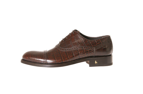 Birelli Alligator-Embossed Oxford Shoes