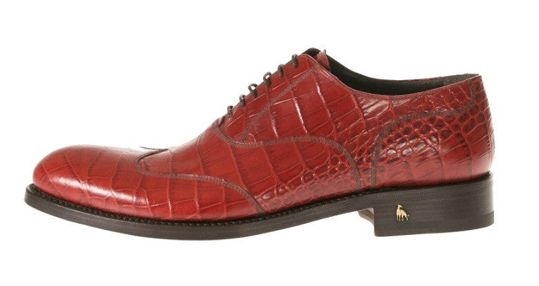 Alligator Red Men's Italian Shoes
