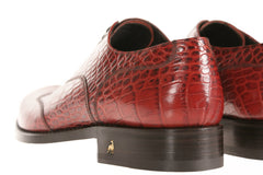Parenzo Alligator-Embossed Oxford Shoes