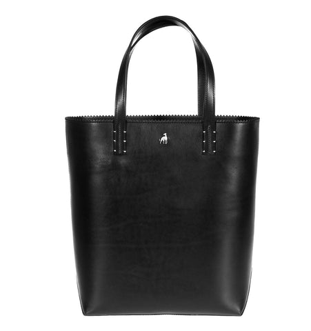Capri Black Calf Tote Last Call
