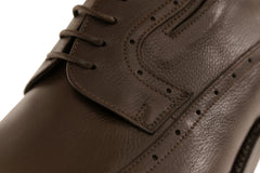Luxury Brown Derby Italian Men's Shoes