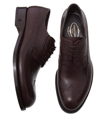 Dress Brown Derby Italian Men's Shoes