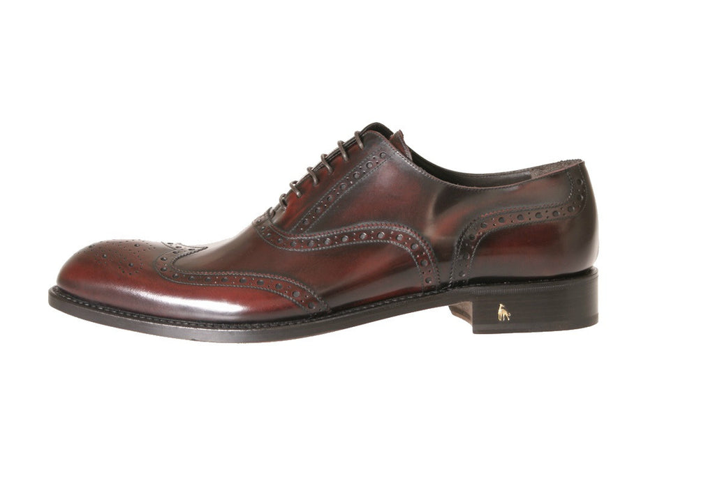 Buy Luxury Best Formal Burgundy Derby Brogue Man Italian Shoes