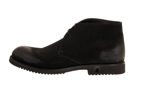 Veneto Rugged Black Calf Desert Boots