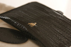 Card Holder Black Reptile