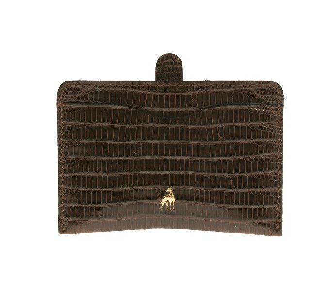 Card Holder Brown Reptile