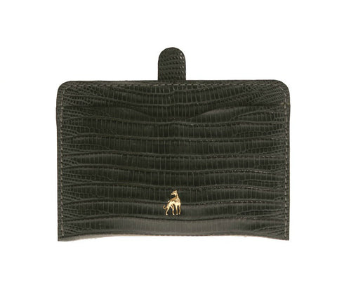 Card Holder Dark Grey Reptile