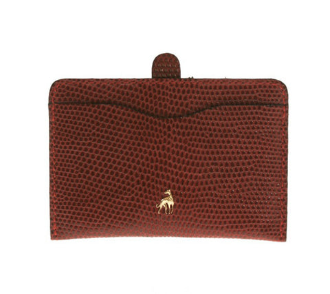 Card Holder Red Reptile