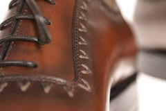 Stitching Details on the Chicago Bespoke Shoe
