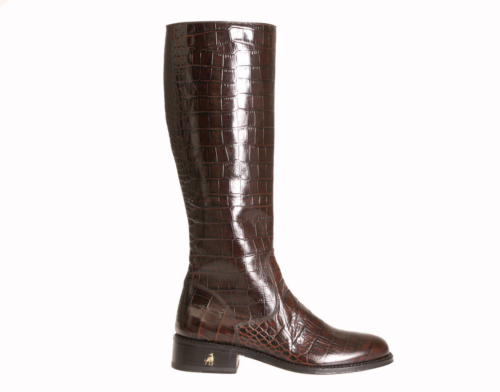 c254af1a565 Brown Alligator Riding Boot Handmade in Italy   Toronto – Treccani ...
