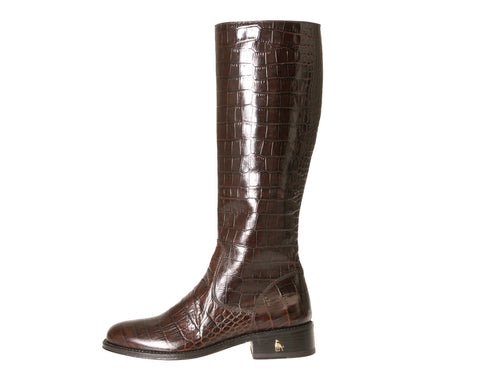 Vittoria Brown Alligator Riding Boots