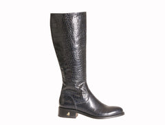 Vittoria Navy Alligator Riding Boot