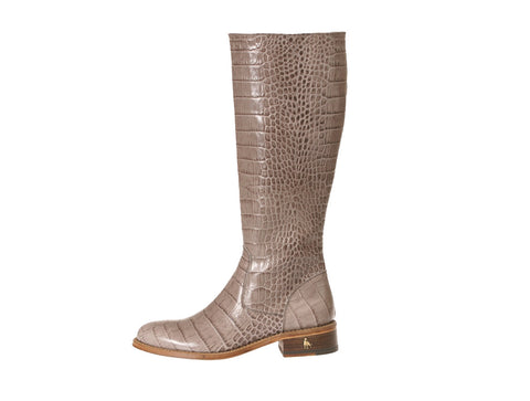 Vittoria Grey Alligator Riding Boot